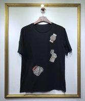 nakış rozetleri tasarla toptan satış-2019 lüks tasarım erkek İzle çanta rozeti nakış pamuk T Shirt erkek Yeni Varış Yaz Tarzı Kısa Kollu Erkek t-shirt