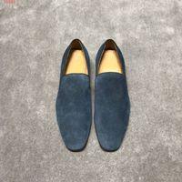 neue schuh europäische stile großhandel-2019 neue europäische und amerikanische Business-Lederschuhe, neue internationale Marken Echtes Leder flache Herrenschuhe ZM41