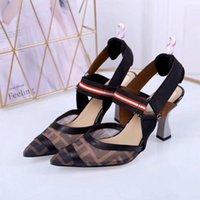siyah giyinmiş modeller toptan satış-210.212 Sığ Ağız Siyah Modelleri Kadınlar Yüksek Topuklar Sandalet Terlik Mules Slaytlar Sneakers Elbise Ayakkabı