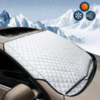 Wholesale car sun shades windshield resale online - SUV Universal Car Windshield All Weather Snow Cover Sun Shade Protection Cover Fits Most of Car Window Mirror Protector