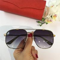 neue randlose titanrahmenmarken großhandel-frau / Männer vintage Brillenfassungen Holz Sonnenbrillen Randloser Rahmen plattiert Santos Designer Sonnenbrillen Brand New in Box CNUM181128-4