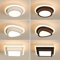 ingrosso pittura bianca nera dell'arte moderna-Luci di soffitto moderna acrilica LED per corridoio d'ingresso di casa Lampada Plafonnier Luminaria lamparas De techo Bianco Nero verniciato