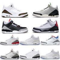 zapato libre negro al por mayor-Nike Air Jordan 3 Retro Zapatos de baloncesto de diseño de hombre Katrina Tinker Free Throw Line Cemento de color negro Corea Pure White Fire Red Trainer Sport Sneaker