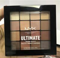16 gölge paleti toptan satış-Drop shipping! Yeni NYX Ultimate Göz farı Paleti NYXUltimate Gölge Paleti Paleti 16 Renkler çıplak Mat Göz Farı