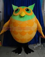 turuncu çizgi film karakterleri toptan satış-Orange Owl Mascot costume Professional adult size Carnival anime movie character Classic cartoon adult Character Cartoon suit Free Shipping