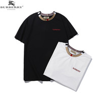 nuevas camisetas impresas al por mayor-19ss nuevo fuera para hombre camisetas marca verano negro blanco BB diseñador carta impresión moda manga corta camiseta hombres mujeres algodón Tops