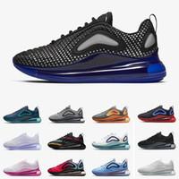 deportes flash al por mayor-2019 Nike Air Max 720 New Arrival Race Blue Zapatillas de running hombre mujer Deep Royal Blue Triple black University Flash Wolf Grey zapatillas deportivas Tamaño 36-45