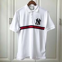 ingrosso nuova foto corta camicia-2019 Nuova molla di trasporto libero classico moda foto reali uomini di alta qualità manica corta camicia da golf polo casual