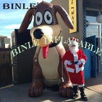 balão inflável do animal de estimação venda por atacado-Logotipo livre promocional 3 m gigante inflável cão brown dog animal balão para animais de estimação loja de decoração