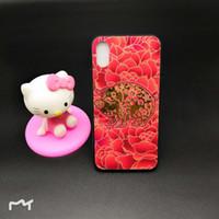 couverture dorée pour iphone achat en gros de-Pour iPhone X XSMAX 7 / 8Plus 6 / 6S Plus 6 / 6s Verre trempé + PC + TPU Coque Shock Dorée Rouge