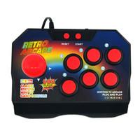 video oyunu av kablosu toptan satış-Yeni Retro Joystick Video Oyun Konsolları Ile 16 Bit 145 Arcade Oyunları ABS Konsol Oyuncuları Sopa Denetleyici Konsolu AV Kablosu