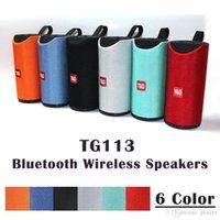 drahtloser bluetooth lauter basslautsprecher groihandel-TG113 Lautsprecher Bluetooth Drahtlose Lautsprecher Subwoofer Freisprechanruf Profil Stereo Bass Bass Unterstützung TF USB-Karte AUX Line In Hi-Fi Loud