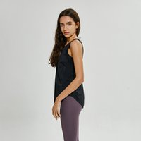 Wholesale sports clothing resale online - LU yoga Vest T Shirt Solid Colors Women Fashion Outdoor Yoga Tanks Sports Running Gym Tops Clothes