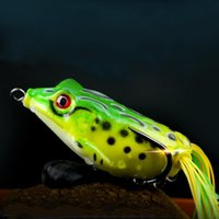 Wholesale white soft lures for sale - Group buy Frog Lure Soft Lures Artificial Fishing Bait Topwater Wobbler Bait for Pike Snakehead Article Gear XH8Z JA10