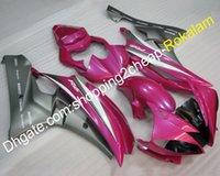 conjunto de plástico yamaha r6 venda por atacado-YZF600-R6 06 07 Conjunto Completo de Carenagem Para Yamaha R6 YZF-R6 2006 2007 Corrida de Motocicleta Carenagens De Plástico ABS (moldagem por injeção)