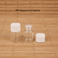 Wholesale glass dropper packaging resale online - 200pcs ml Mini Glass Essential Oil Bottle Perfume Small Dropper Vial OZ Refillable Cosmetic Packaging Jar