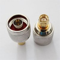 Wholesale sma plug connector resale online - RF Coaxial Coax N to SMA Connector N Male to SMA Male N K Female UHF K Female Plug Adapter Connector
