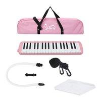 детские игрушки оптовых-Портативный 37 ключ мелодика с мундштук шланг сумка для студентов класса детские игрушки музыкальные инструменты розовый
