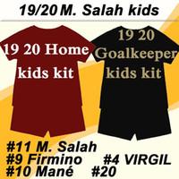 3e706538760 Wholesale football goalkeeper kits online - 2019 M SALAH VIRGIL Home  Goalkeeper Kids Kit Soccer Jerseys