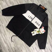логотип стиля m оптовых-19SS BLCG логотип печати пальто шить ветровка мужчина женщины пара куртки МОДА СТИЛЬ ОС топ-версия HFLSJK318