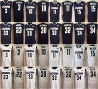 4691c7492f6 Uconn Huskies 15 Kemba Walker 11 Boatright 32 Hamilton 34 Ray Allen 10 Sue  Bird 3 Taurasi 30 Stewart 23 Maya Moore College Basketball Jersey