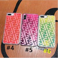 Wholesale glow dark phones for sale – best Pure Color F F Supre Phone Cases i6g MAX For IPhone s plus X XS XR XSmax Quicksand Lighting Liquid Glow in Dark TPU Phone Cover B72302
