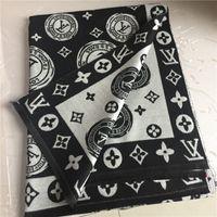 women s wool scarf venda por atacado-Clássico cashmere xale moda outono e inverno grosso cachecol de lã design clássico letras impressas cachecol xales dos homens e das mulheres 180 * 70 cm