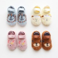 Wholesale cartoon animal baby toddler shoes resale online - Fashion Baby Girls Boys Cute Cartoon Non slip Cotton Toddler Floor Socks Animal pattern First Walker Shoes for Newborns