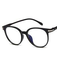 óculos nerd óculos claros venda por atacado-Vidros De Plástico transparente Quadro Unisex Óculos de Luz Clara Oval Lente De Armação De Plástico Unisex Retro Óculos De Óculos De Nerd Eyewear