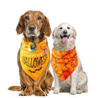 Wholesale cotton dog collars for sale - Group buy Pet dog cat Halloween Bandana Bibs Scarf Collar Adjustable Pet Neckerchief Waterproof Saliva Towel styles