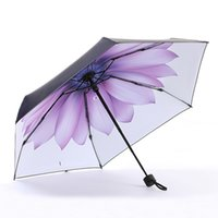radio púrpura al por mayor-Pequeño paraguas púrpura ahumado fresco sombrilla para el sol sombrilla femenina plegable de doble uso protector solar bolsillo cinco veces paraguas.