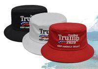 Wholesale make cotton beanie resale online - Make America Great Again Hat Donald Trump Republican Hat Cap Unisex Cotton Adjustable fisherman hat gorras para hombre