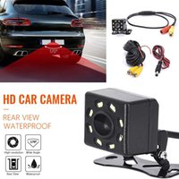 ночная резервная камера оптовых-HD CCD 8 светодиодов Автомобильная камера заднего вида ночного видения Универсальная автомобильная камера заднего вида Широкоугольная камера резервного копирования парковки