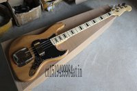Wholesale custom bass guitar bodies for sale - Group buy 2019 Wood color jazz electric bass custom body with shell can be customized banjo electric guitar