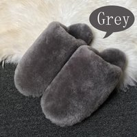 Wholesale warm slippers free shipping resale online - Hot Sale Color Winter Warm Cute House Slippers Women Indoor Fashion Furry Sheepskin Slippers Unisex Home Men