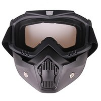 Wholesale mask wind protection resale online - 2020 Outdoor Unisex Motorbike Anti impact and Anti wind Eye Protection Goggles Mask Helmet Cycling Accessories
