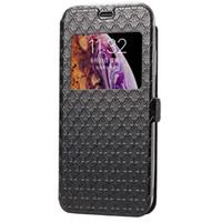 телефонные кошельки оптовых-Роскошные дизайнерские чехлы для телефонов для iphone xs max xr 7 8 plus кошелек кожаный смарт - окно с рисунком флип-карты Pocke