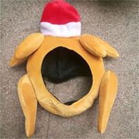 ingrosso cappello disegni per natale-Peluche Ringraziamento Turchia cappello di Natale della protezione di sera del partito della decorazione divertente del rubinetto Cappelli nuovo disegno popolare uomo e le donne 12 88hpH1