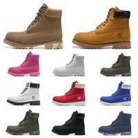 açık ayakkabı botları toptan satış-lüks Timberland tasarımcı erkekler kadınlar botlar kahverengi üçlü siyah beyaz lacivert moda Martin Boot açık hava koşu yürüyüş ayakkabısı mens kestane