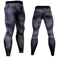 Wholesale fitness jersey for sale - Group buy Bodybuilding Mens Compression Tight Pants Men Fitness Joggers Elastic Leggings Workout Male Quick Drying Long Pant Dropshipping