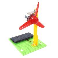 ingrosso ventilatore giocattolo solare-Esperimento scientifico Scuola materna fai-da-te Primaria e scuola media composta da Ventilatore solare, intelligenza educativa che riunisce giocattoli e tecnologia