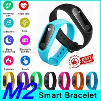 Wholesale m2 smart bracelet online – 10pcs M2 Smart Band Bracelet fitness Wristband Watch Heart Rate Monitor Waterproof Bluetooth OLED Tracker for IOS Android