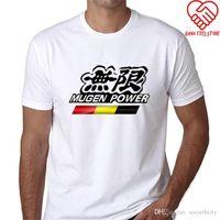 poder mugen venda por atacado-Camisa 2018 Novo Curto Mugen Poder Jazz Homens Curto-Luva T Camisas