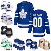 camisa de folha de bordo dos miúdos venda por atacado-Homens Crianças Mulheres Morgan Rielly Jersey Toronto Maple Leafs Hóquei no gelo Kasperi Kapanen Andreas Johnsson Nazem Kadri Stadium Série St Pattys Day