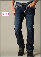 Wholesale crystals rocks resale online - Fashion Straight leg pants SS New True Elastic jeans Mens Robin Rock Revival Jeans Crystal Studs Denim Pants Designer Trousers Men s