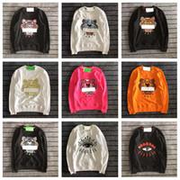 женские тигровые пуловеры оптовых-Вышивка tiger kenz мужская дизайнерская толстовка с капюшоном мужчина женщина высокое качество с длинным рукавом O-образный пуловер вышивка из чистого хлопка махровая коробка Kenz логотип