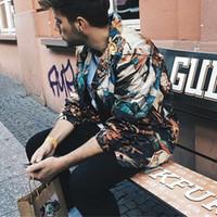engel fällt großhandel-17FW Undercover Jacken Der Fall der Rebellenengel Ölgemälde Mode Oberbekleidung Hochwertige Männer Frauen Paar Mäntel HFLSJK043