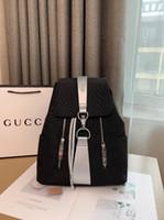 kore kanvasının rahat sırt çantası toptan satış-Kadınlar için sırt çantaları 2019 yeni popüler logo Kore moda all-in-one bayanlar rahat tuval küçük sırt çantası seyahat çantası