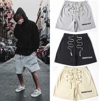FEAR OF GOD Essentials Shorts FOG Elastic Waist Sweatshorts Hip Hop Street Casual Drawstring Drop Crotch Harem Pants for Men and Women