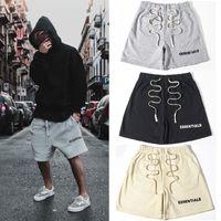 Mens Shorts FOG Elastic Waist Sweatshorts Hip Hop Street Casual Drawstring Drop Crotch Harem Pants for Men and Women